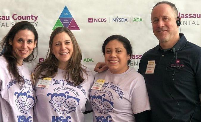 Woodbury Pediatrics staff at a charity event